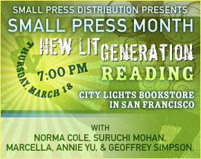 SPD presents SMALL PRESS MONTH & NEW LIT GENERATION READING