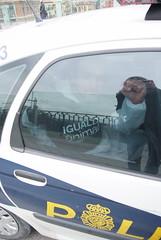 12/03/2010 - Madrid - Descuelgue contra la tauromaquia (Igualdad Animal   Animal Equality) Tags: protesta toros tauromaquia especismo igualdadanimal derechosanimales descuelgue