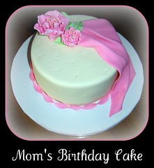 Mom's Birthday Cake... (It's All About the Cake) Tags: birthday pink floral cake mom feminine pearls drape wilton fondant fantasyflower