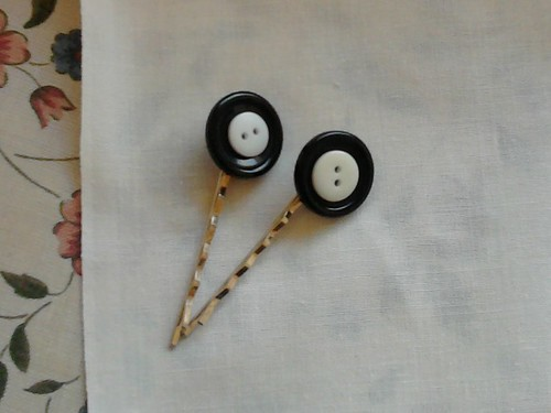 Make do and mend hairslides