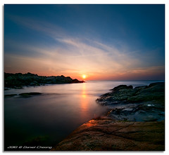 Light Path (DanielKHC) Tags: light sunset sea india seascape digital interestingness high nikon rocks long exposure dynamic path 9 kerala explore range fp frontpage dri hdr blending kovalam d300 nd400 danielcheong holidaysvacanzeurlaub danielkhc vertorama tokina1116mmf28