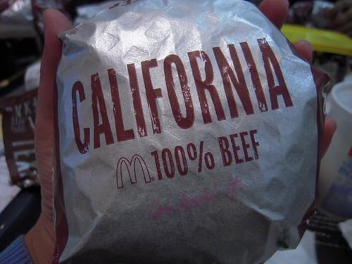 マクドナルド Big America カリフォルニア