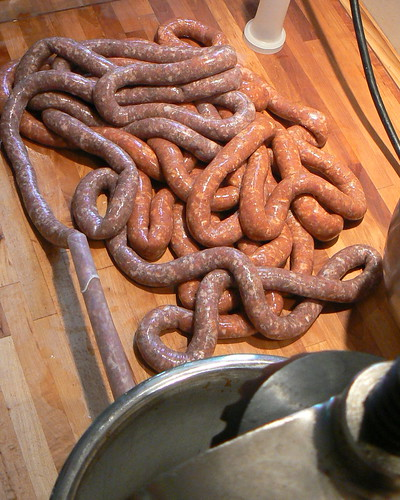 Sausage ain't gonna stuff itself