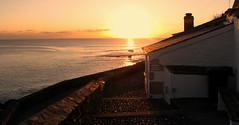 Winter Sunset (Karen C. ) Tags: sea cornwall porthleven