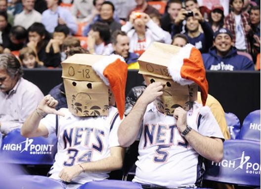 Nets fans bags