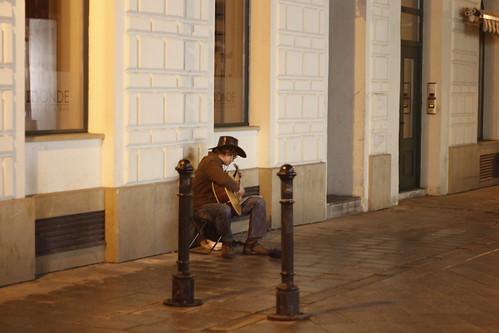 Street performer in Bratislava