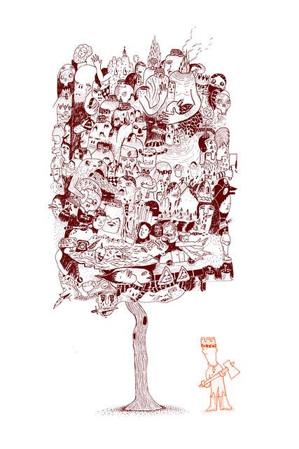 une affiche serigrafiée pour l'expo forcebeton à Nantes en avril.