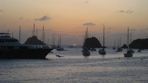 Sunset in Gustavia Harbor