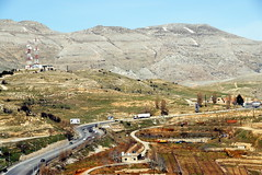 TRUCKING IN LEBANON (Claude  BARUTEL) Tags: road lebanon truck transport eat valley middle beirut trucking bekaa