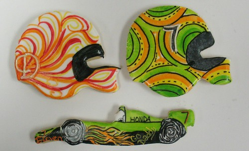 [Image from Flickr]:Indy 500 race car cookies
