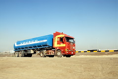 TRUCKING IN DUBAI (Claude  BARUTEL) Tags: dubai tank united transport emirates arab petrol sharjah trucking scania