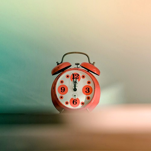 Retro / Vintage / Orange / Clock