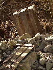 Different Hues (gripspix (OFF)) Tags: wood rocks box decay debris steine holz kiste zerfall schutt 20100225
