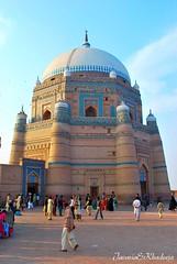 (Javaria&Khadeeja) Tags: morning blue pakistan sunset music beauty saint architecture asia tomb culture mosque soul dome mystical tradition punjab dslr sufi multan nikond60 shahruknealam pakistantravel bahauddinzakariya sothasia