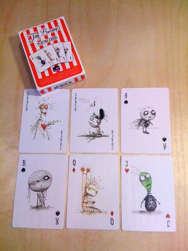 Tim Burton's plating cards