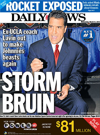steve lavin daily news cover