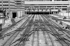 To Guide Your Way (Thomas Hawk) Tags: bw chicago train illinois 10 traintracks chitown trains fav20 ltrain southside fav30 cookcounty chicagoland windycity fav10 fav25 ltrains superfave