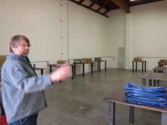 Ron in new Portland UBI Framebuilding Classroom