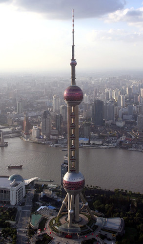Image Oriental Pearl TV Tower, Shanghai, China, Copyright © Jon Charest