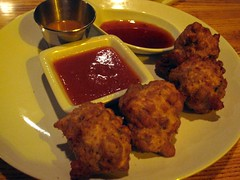 sauced restaurant - black-eyed pea fritters