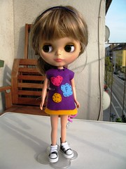 My first selfmade Blythe dress ever