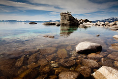 Bonsai Rock, Lake Tahoe (TenSafeFrogs) Tags: lake mountains landscape rocks tahoe laketahoe bonsai bonsairock