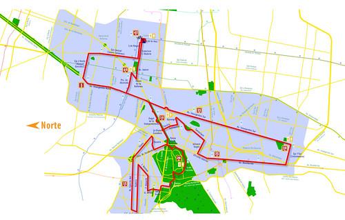Ruta del Maraton de la Ciudad de México 2008