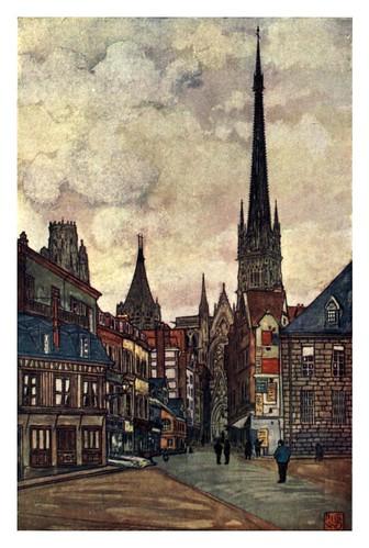 007-Una calle en Rouen-Normandy-1905- Ilustrado por Nico Jugman