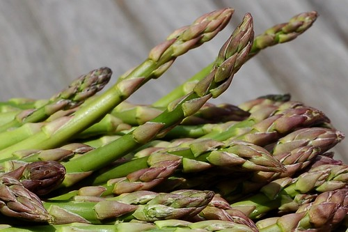 Fresh, organic, local asparagus by Eve Fox, Garden of Eating blog