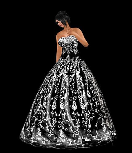 dress black and white