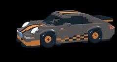Porsche 911 RS Racer (993) LDD (lego911) Tags: auto car lego render 911 porsche universe rs cad racer 993 moc ldd miniland foitsop