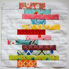 Stacked [Whatever] Block (The Sometimes Crafter) Tags: jump quilt market katie books rope fabric strip fancy bolts block flea fmf stacked kjr volumes samplerquiltalong