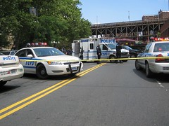 Bomb Scare at the Brooklyn Bridge (buff_wannabe) Tags: nyc nypd brooklynbridge policecar incident crimescene