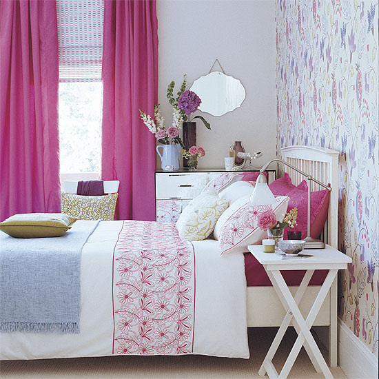 Pink & White Bedroom
