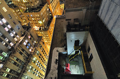 Rooftops and Lights, Lower Manhattan at Night, New York City