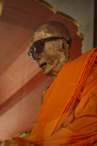 Mummified monk at Wat Khanaram Koh Samui