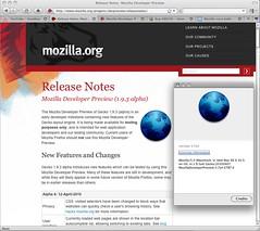 Mozilla Developer Preview 1.9.3 alpha 4 for Macintosh