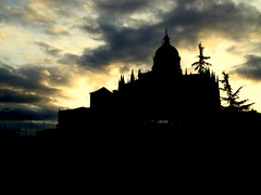 Catedral/Iglesia (Aleksejs Medvedevs (Alex)) Tags: sunset church spain iglesia salamanca