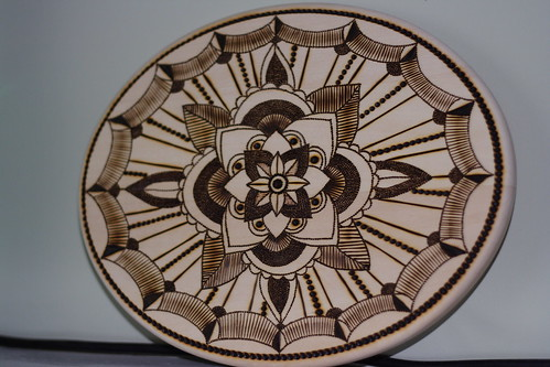 Pyrographed plaque0004