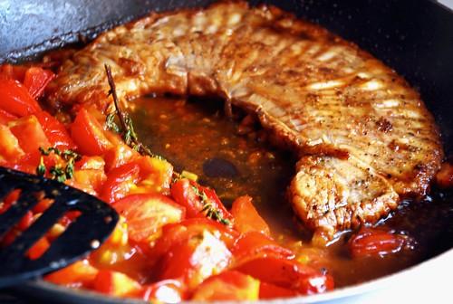 Skate fish, tomatoes & thyme...