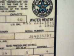 28 year old hot water heater