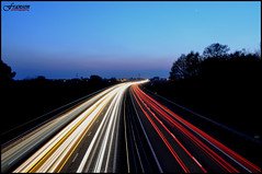 Speed of light (Bas Fransen Photography) Tags: longexposure light reflection netherlands night dark photography evening amazing nikon highway long exposure shoot nightshot horizon award viaduct midnight stunning panning highspeed shutterspeed fransen d5000 100commentgroup nikond5000