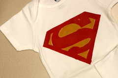 Superbaby! (.hannita.) Tags: baby superman superhero onesie freezerpaperstencil howaboutorange
