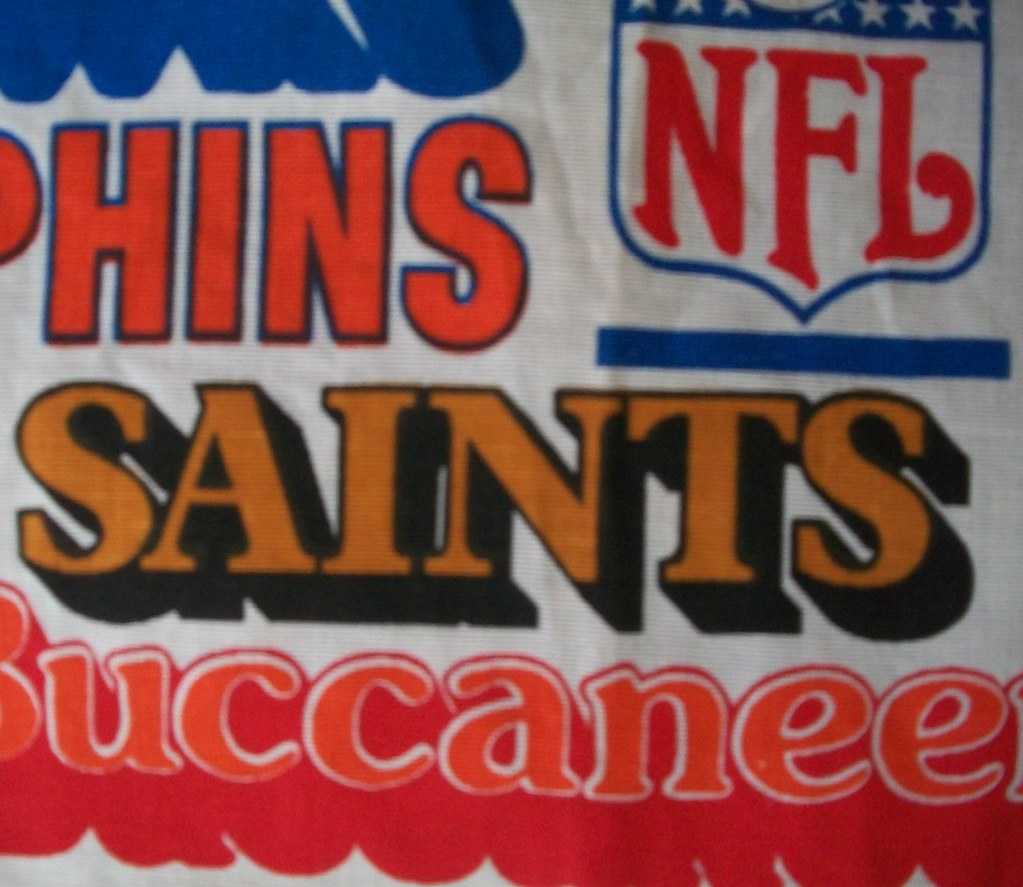 Vintage Cafe Curtains with Retro NFL Logos