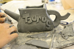Taurus (mulberrymint) Tags: school art canon ceramics artist classroom florida class highschool devon clay pottery teapot taurus clermont centralflorida eastridge eastridgehighschool canonrebelxs clermontflorida clayteapot taurusteapot