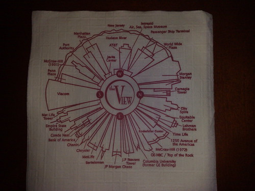NYC Spinny Bar napkin