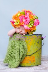 Fresh From the Garden (Shuttermomof3) Tags: portrait baby hat nikon newborn prop flowerhat top20childrensportraits explored