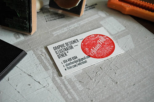 Oh hello friend you are loved 11 hand stamped business cards double stamp business cards from adam hill colourmoves