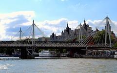 One of the pedestrian crossings at the river (m.m b) Tags: bridge thames river crossing pedestrian picnik d60 mywinners