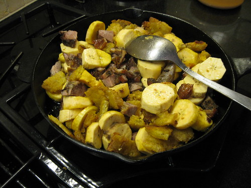 cooking the plantain